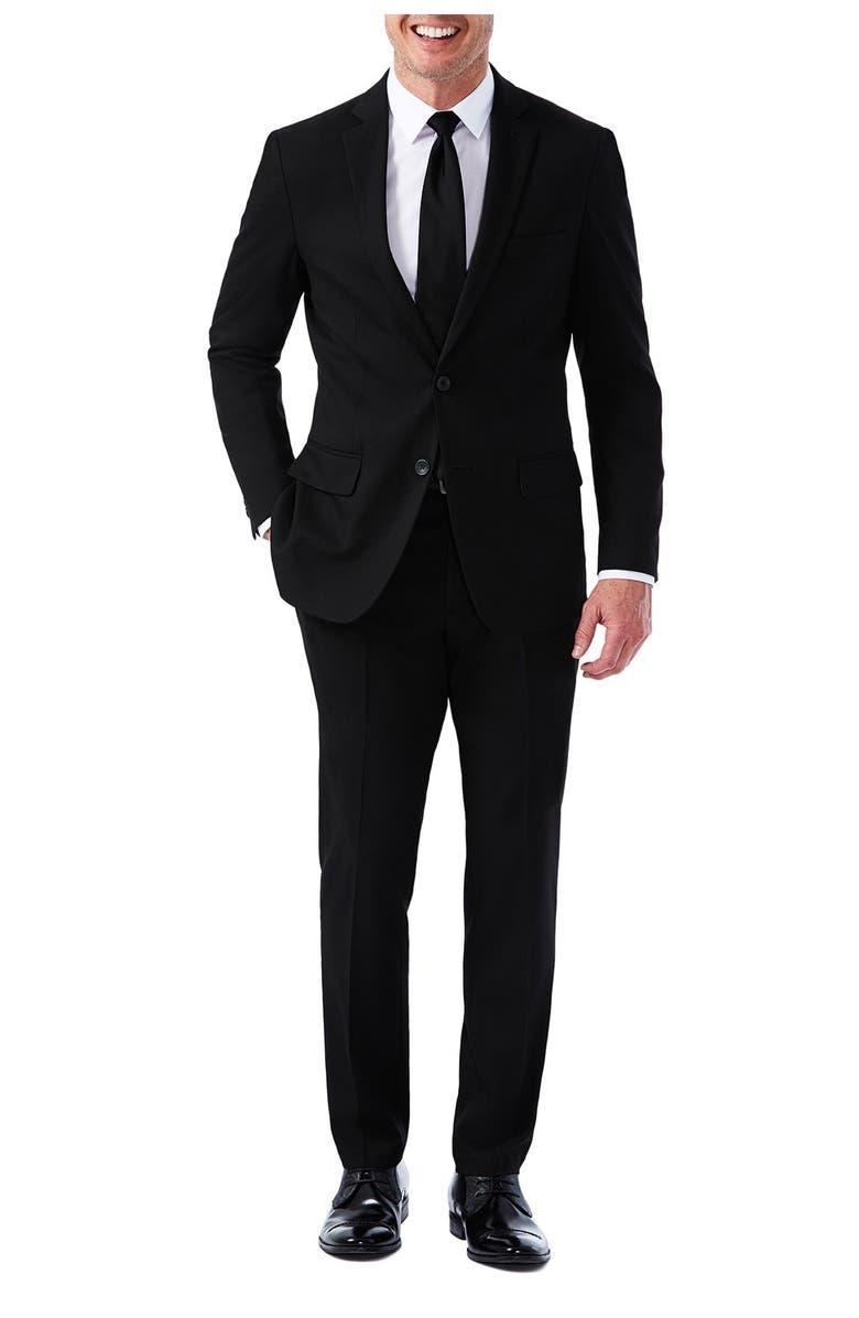 HAGGAR Hagger J.M Haggar Slim Fit Flat Front Premium Stretch Suit Separate Jacket, Main, color, BLACK