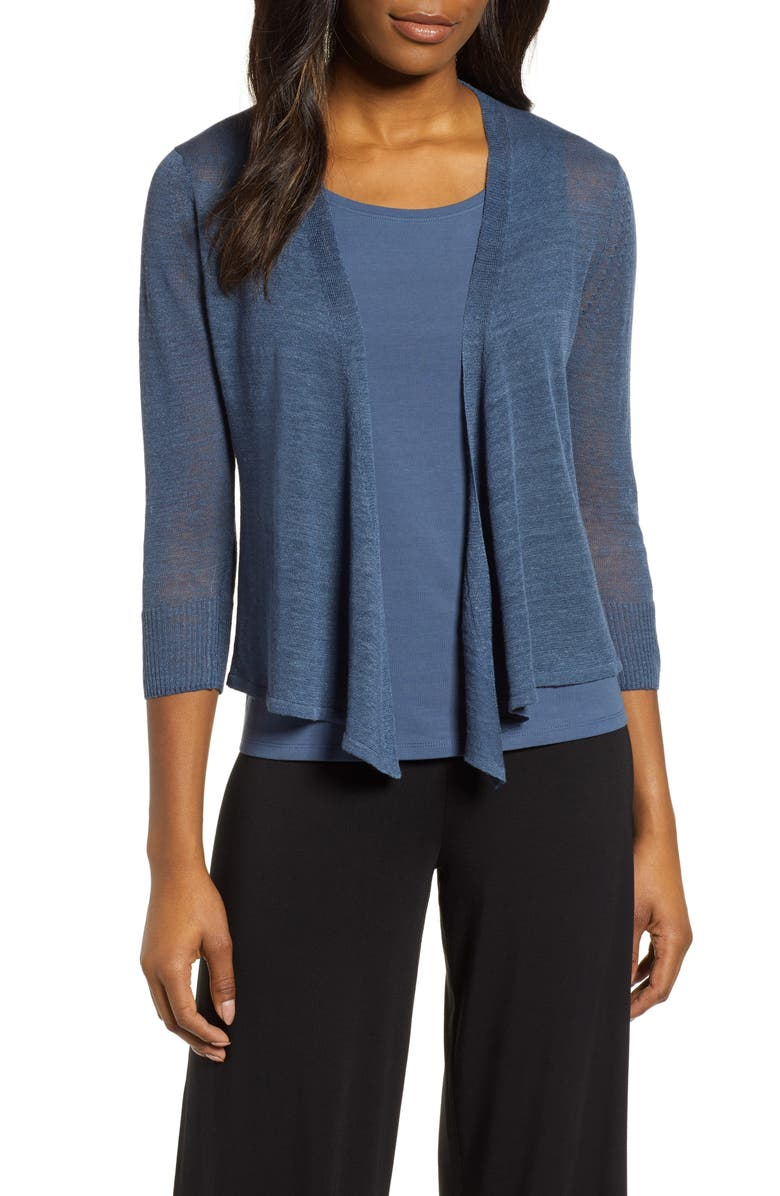 NIC+ZOE 4-Way Lightweight Cardigan, Main, color, INDIGO SEA