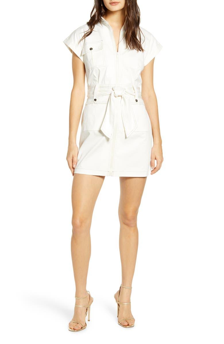 SNDYS Cargo Short Sleeve Minidress, Main, color, 100
