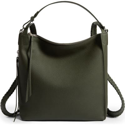 Allsaints Small Kita Convertible Leather Backpack - Green