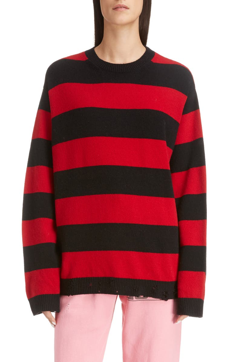 MARC JACOBS The Grunge Sweater, Main, color, RED