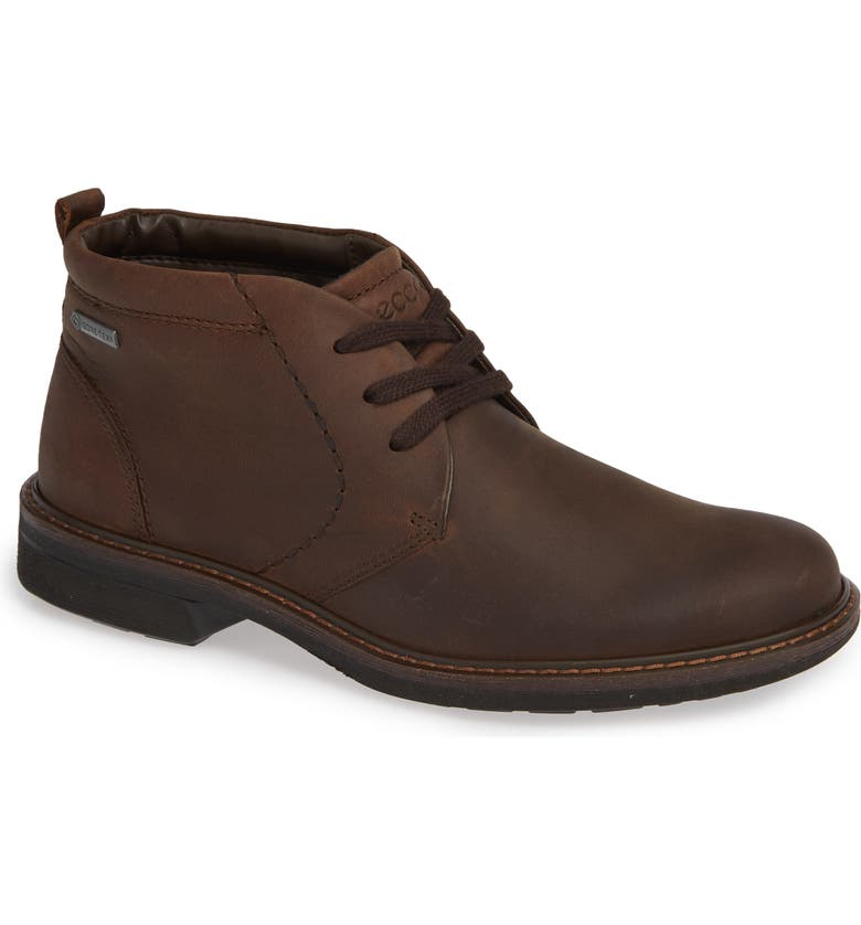 ECCO Turn Gore-Tex<sup>®</sup> Waterproof Chukka Boot, Main, color, COCOA BROWN