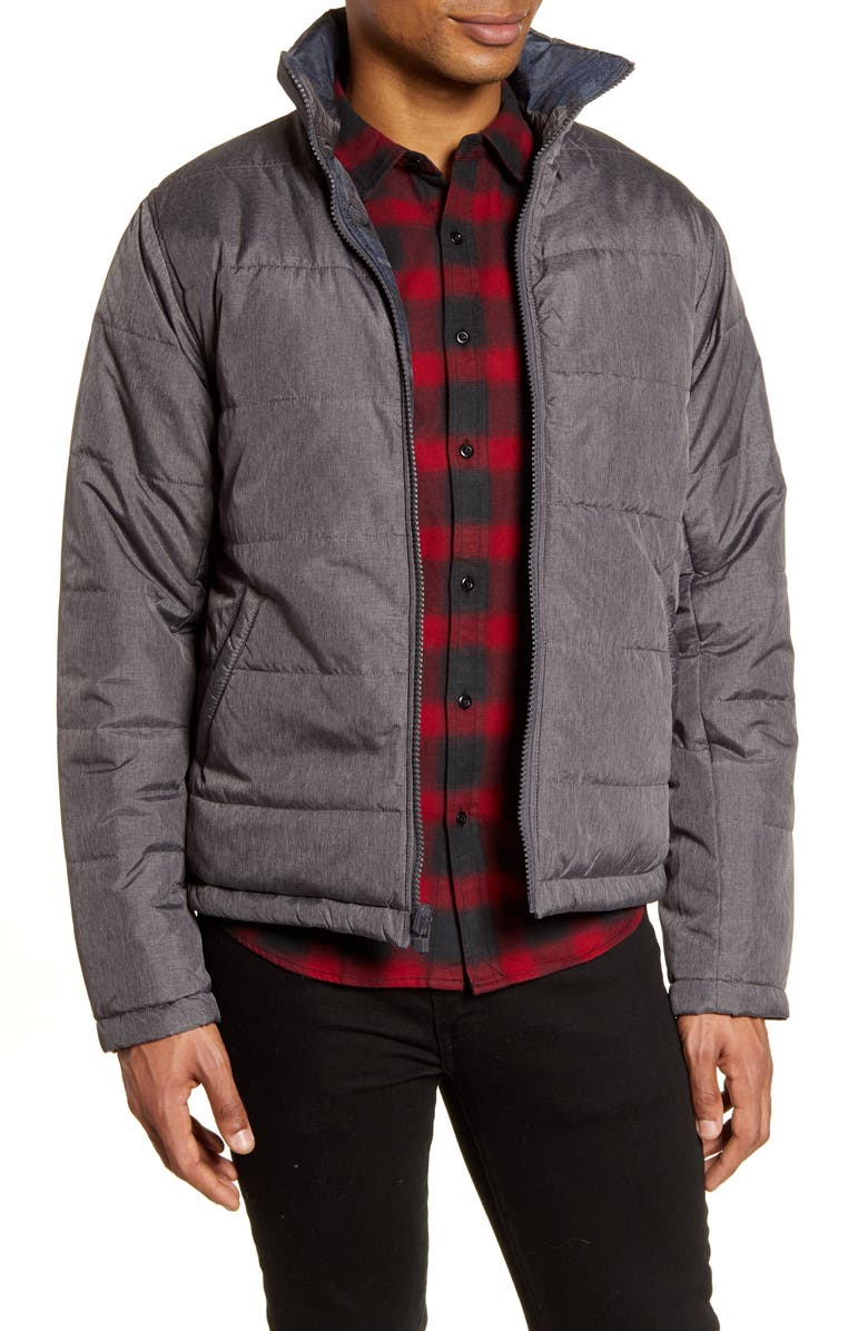 LIFE/AFTER/DENIM Forager Reversible Puffer Jacket, Main, color, BLACK