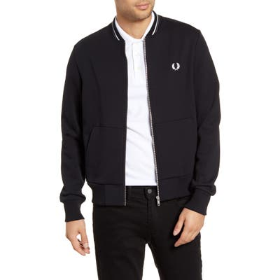 Fred Perry Fleece Track Jacket, Black