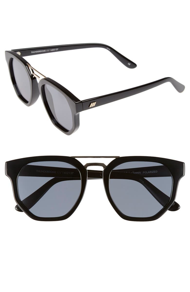 LE SPECS 'Thunderdome' 52mm Polarized Sunglasses, Main, color, 001