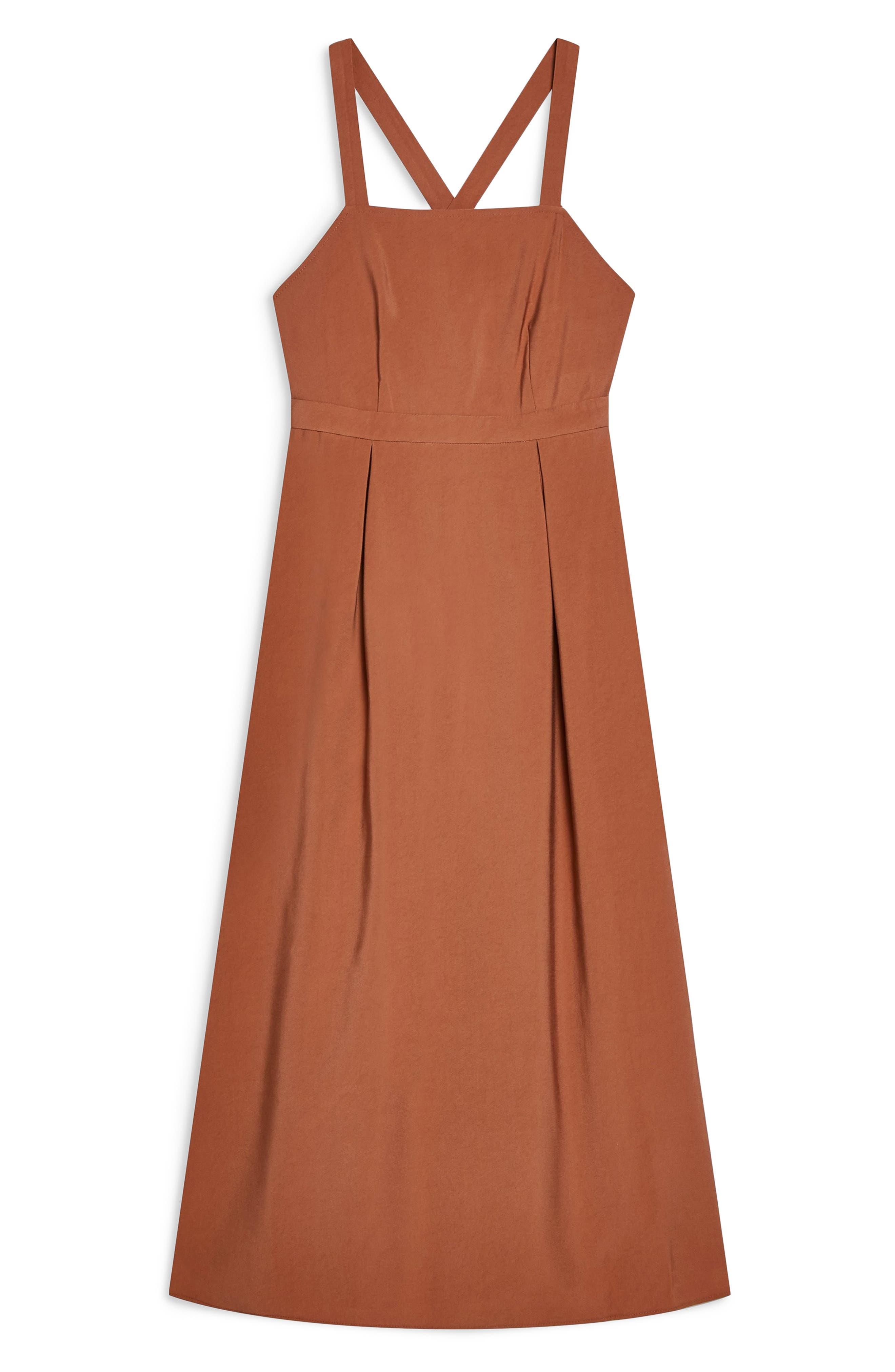 ,                             Tilda Pinafore Midi Dress,                             Alternate thumbnail 8, color,                             200