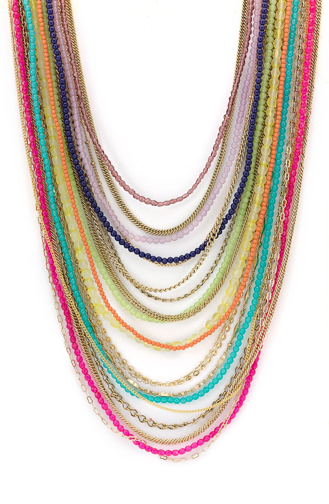 ,                             Beaded Long Multistrand Necklace,                             Main thumbnail 23, color,                             960