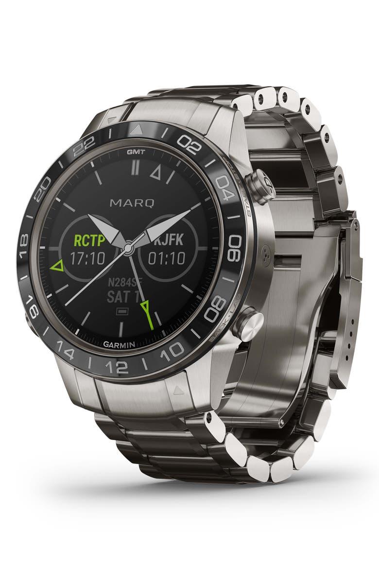 GARMIN MARQ Aviator GPS Smart Watch, 46mm, Main, color, SLATE GREY