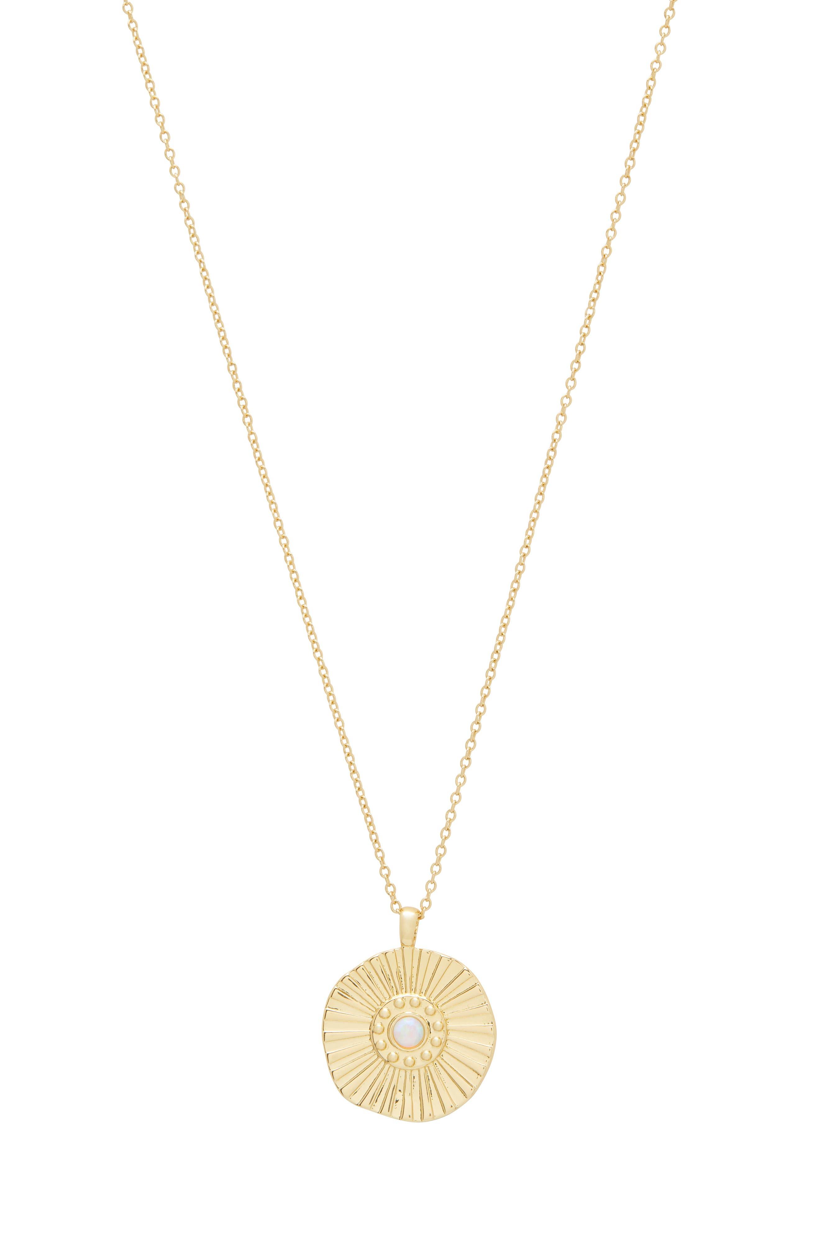 Sunburst Coin Pendant Necklace