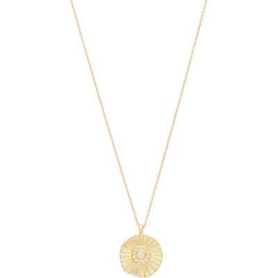 Gorjana Sunburst Coin Pendant Necklace