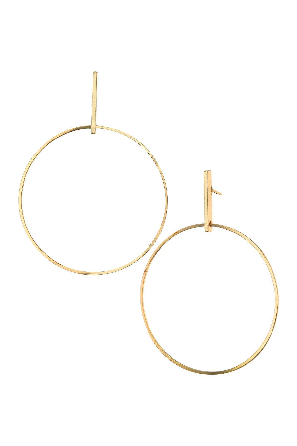 Image of Savvy Cie 14K Gold Plated Geometric Drop Earrings