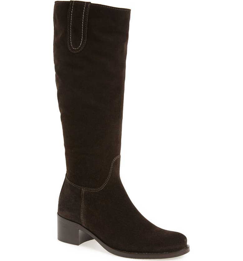 LA CANADIENNE 'Polly' Waterproof Knee High Boot, Main, color, BROWN SUEDE