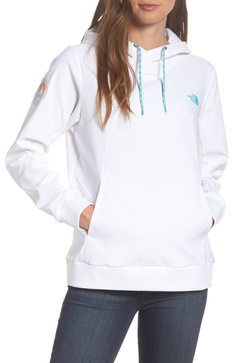 THE NORTH FACE Tekno Fresh Hoodie, Main, color, TNF WHITE