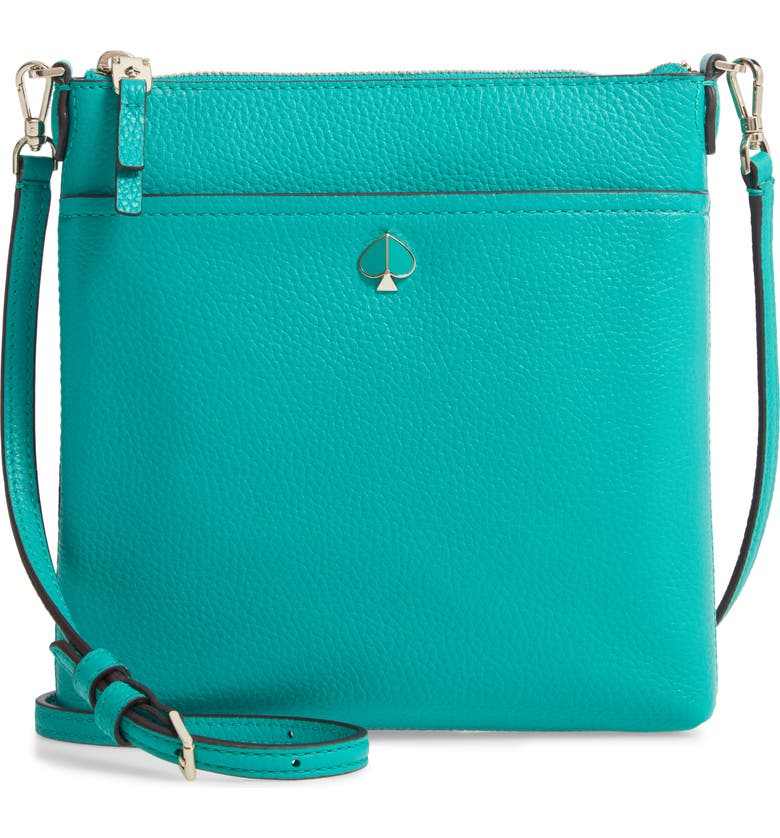 KATE SPADE NEW YORK small polly leather crossbody bag, Main, color, 305
