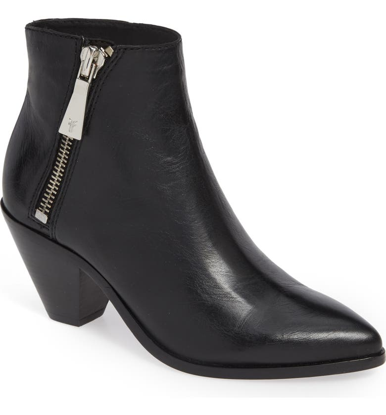 FRYE Lila Pointy Toe Bootie, Main, color, 001