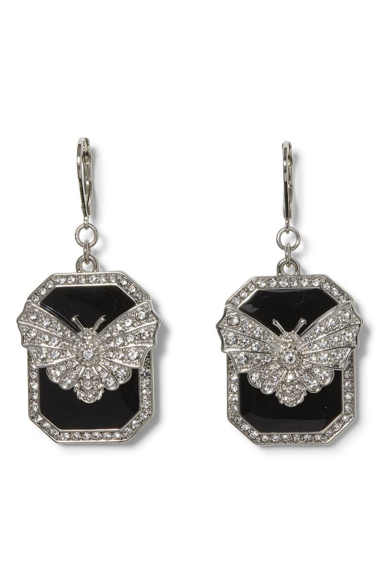 VINCE CAMUTO Butterfly Drop Earrings, Main, color, SILVER