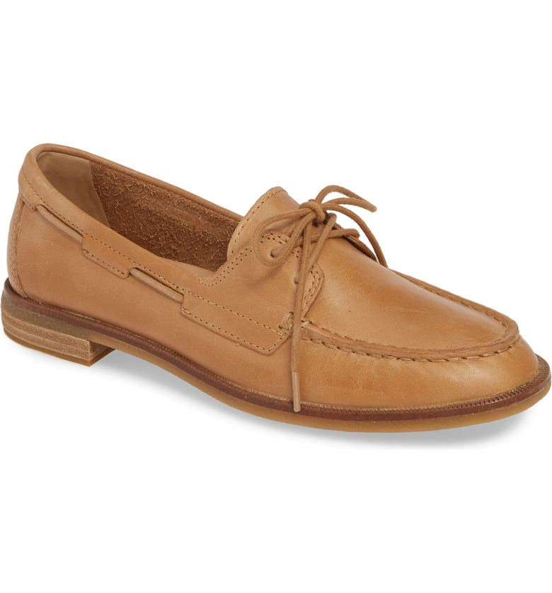 SPERRY Seaport Loafer, Main, color, LIGHT PEANUT LEATHER