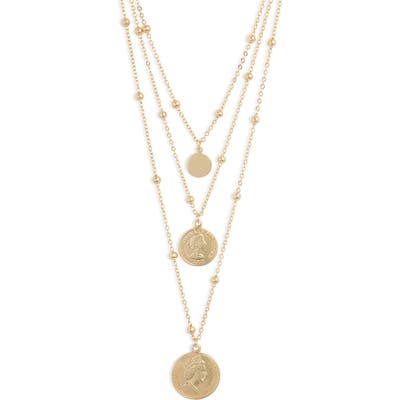 Sterling Forever Triple Medallion Layered Necklace