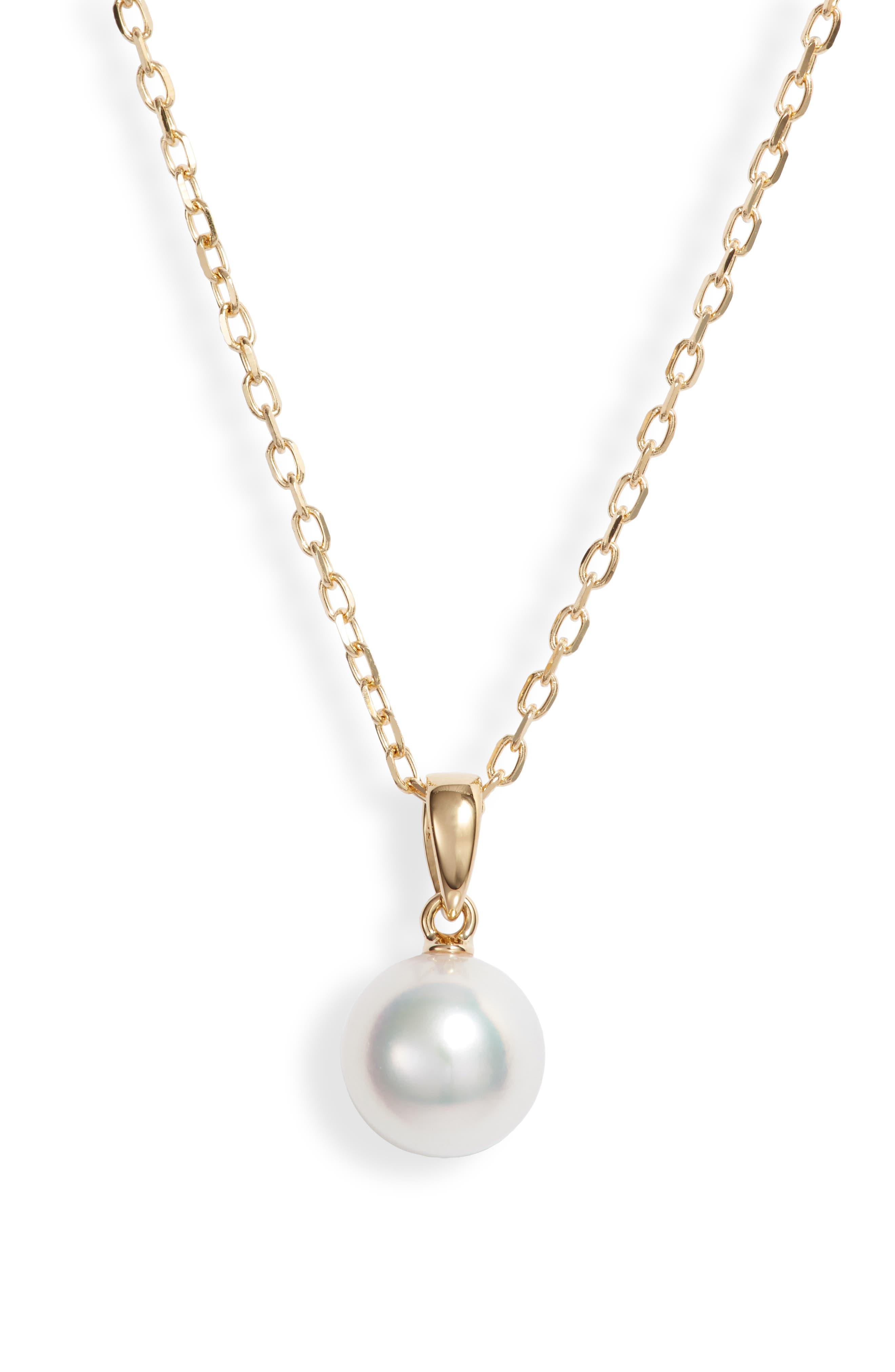 Essential Elements Pearl Pendant Necklace