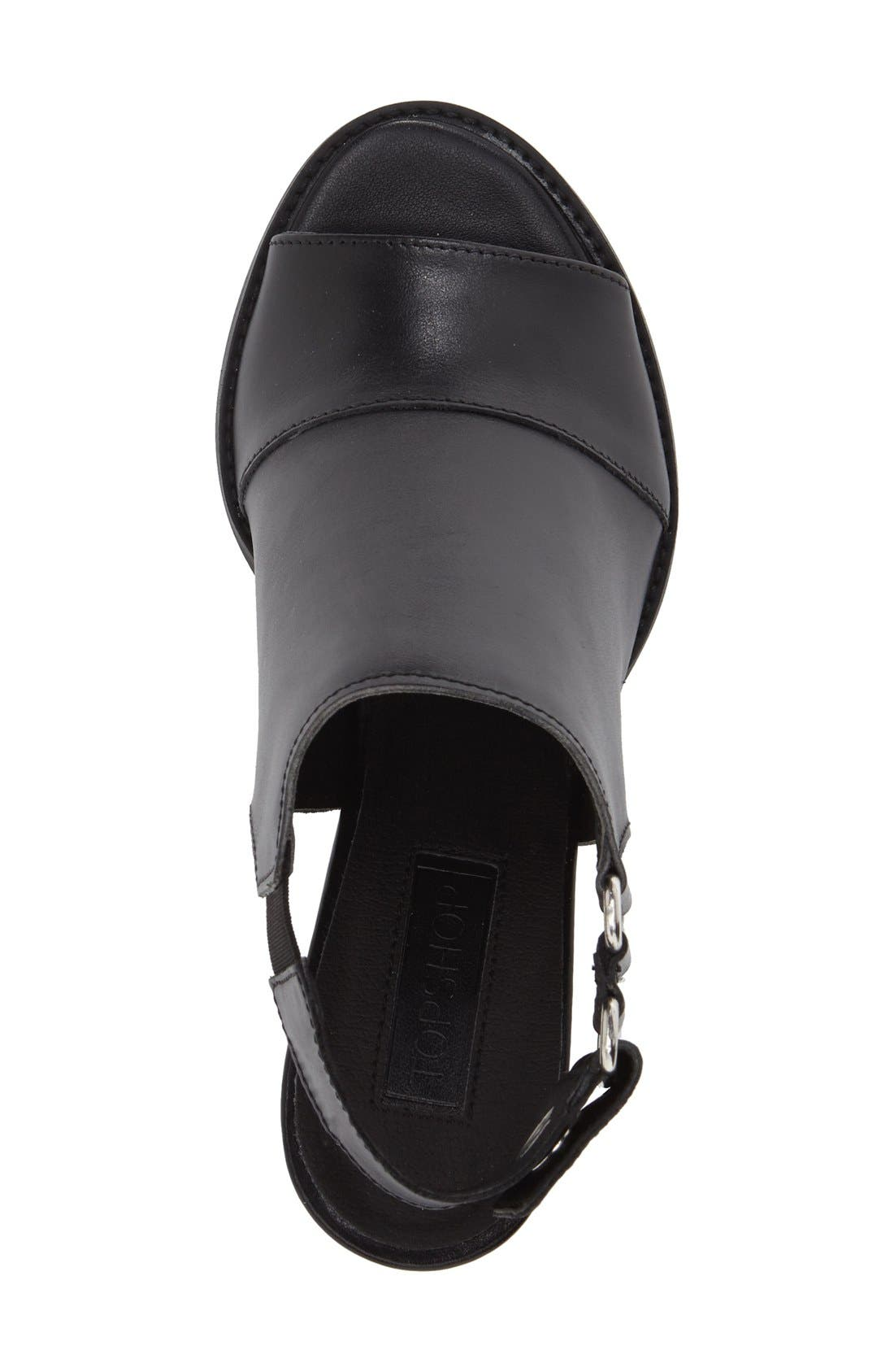 ,                             'Nimi' Slingback Round Heel Sandal,                             Alternate thumbnail 3, color,                             001