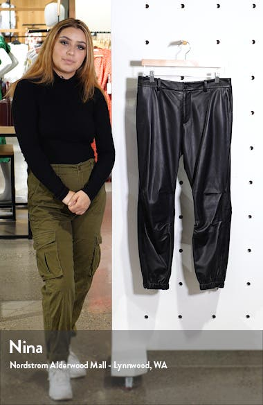 French Military Leather Crop Pants, sales video thumbnail