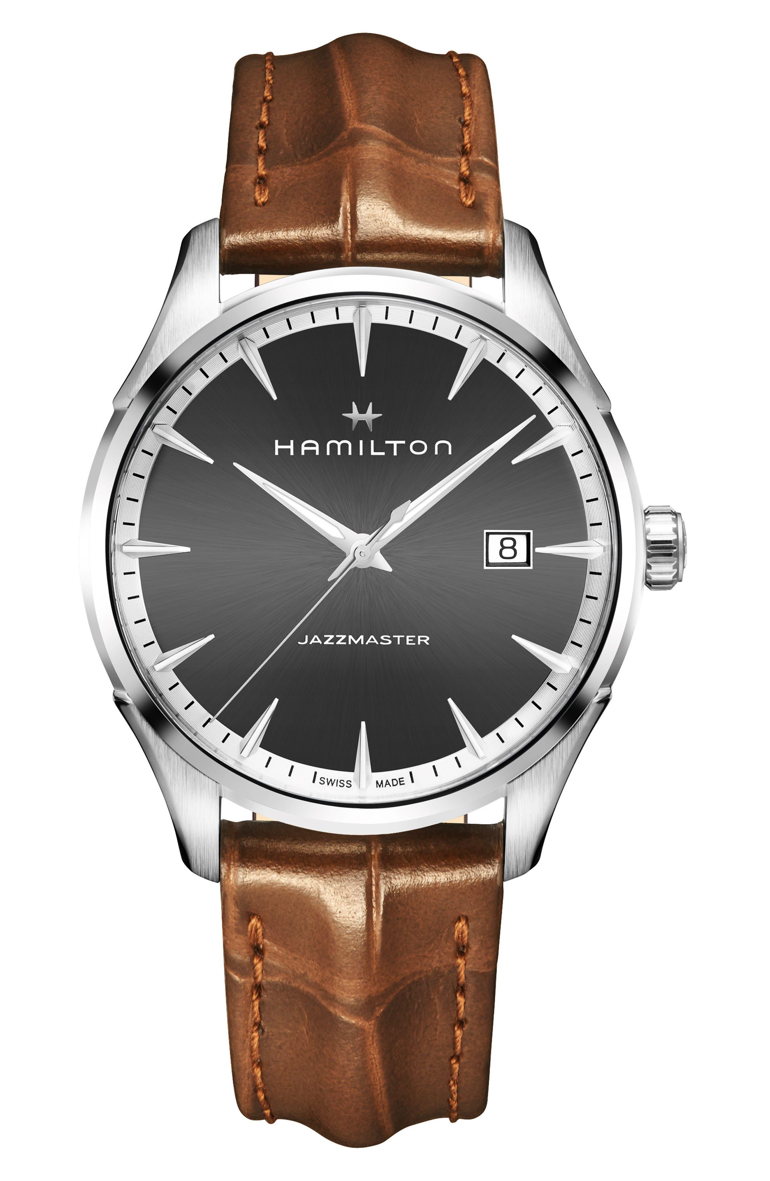 Jazzmaster Gent Leather Strap Watch