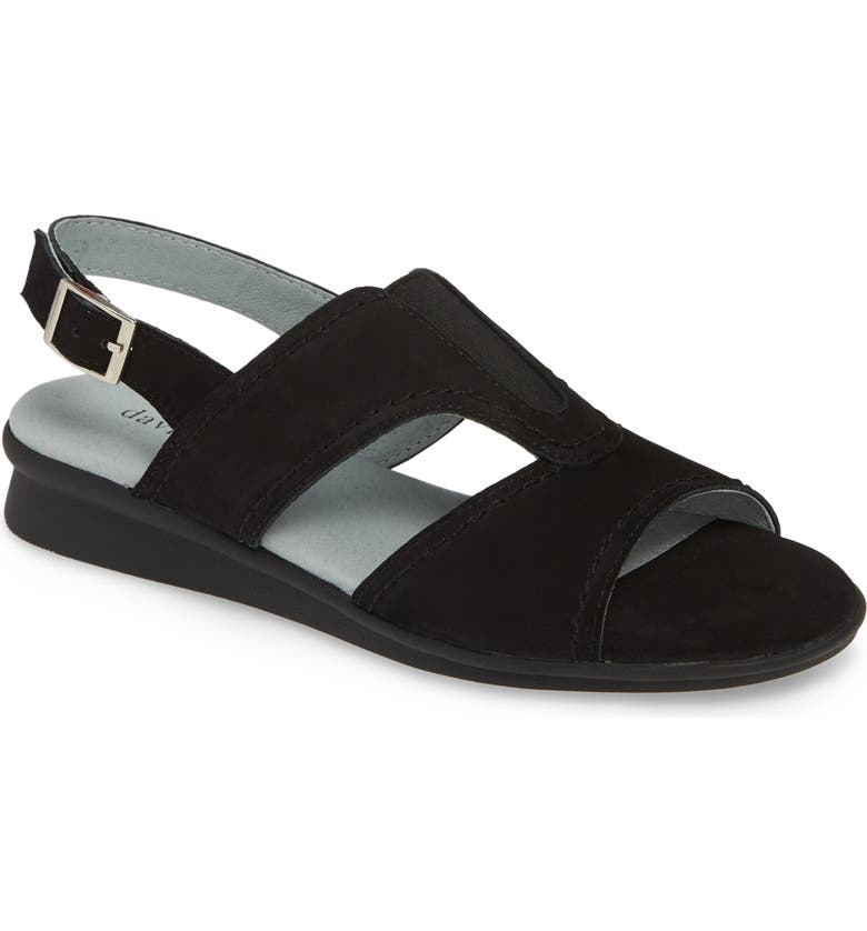 DAVID TATE Tempt Sandal, Main, color, BLACK NUBUCK LEATHER