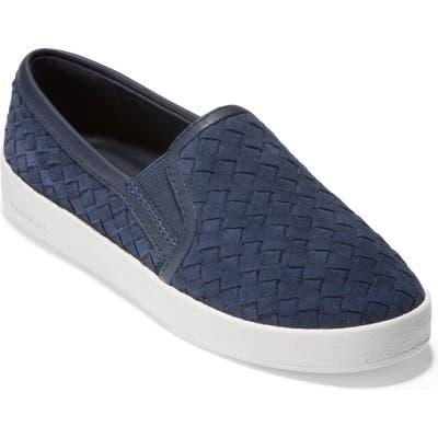 Cole Haan Grandpro Woven Slip-On Sneaker, Blue