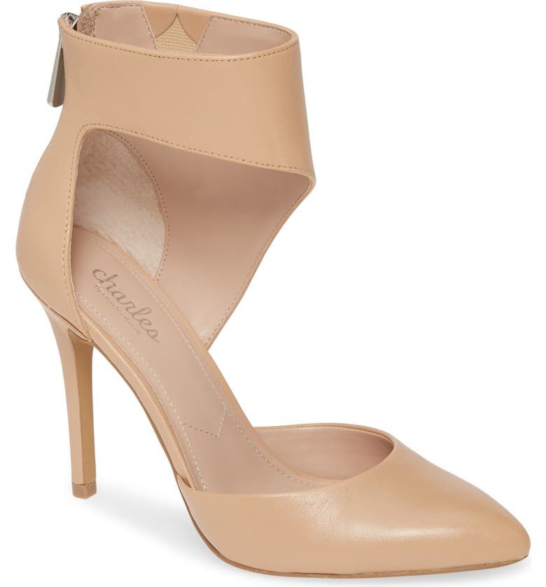CHARLES BY CHARLES DAVID Proud d'Orsay Pump, Main, color, NUDE LEATHER