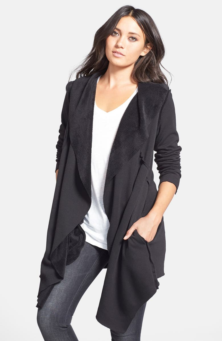 ANAMA Open Front Wrap Jacket, Main, color, 001