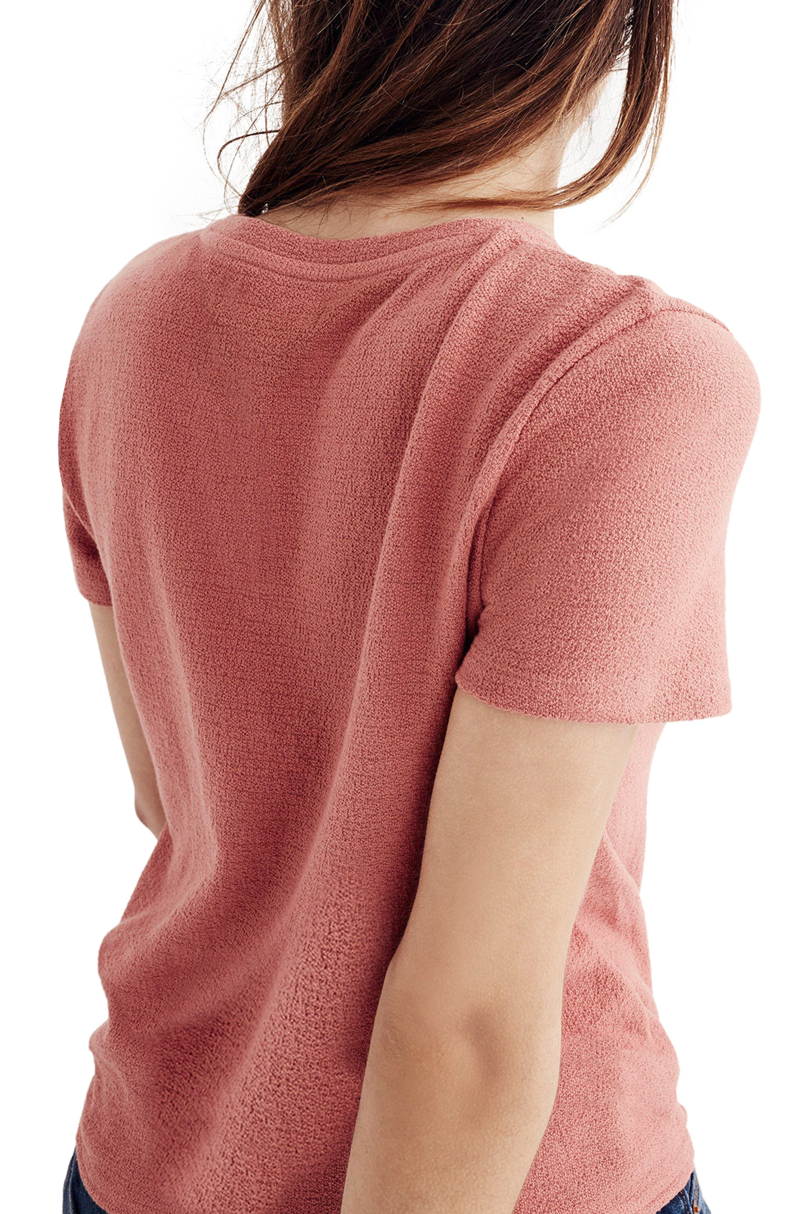 ,                             Modern Tie Front Tee,                             Alternate thumbnail 28, color,                             650