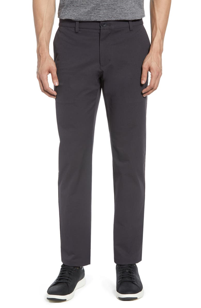 VINEYARD VINES On the Go Slim Fit Performance Pants, Main, color, CHARCOAL