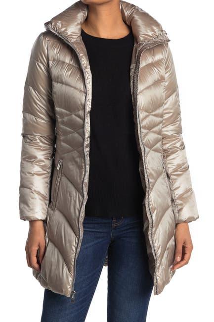 Image of Via Spiga Packable Hood Longline Puffer Jacket