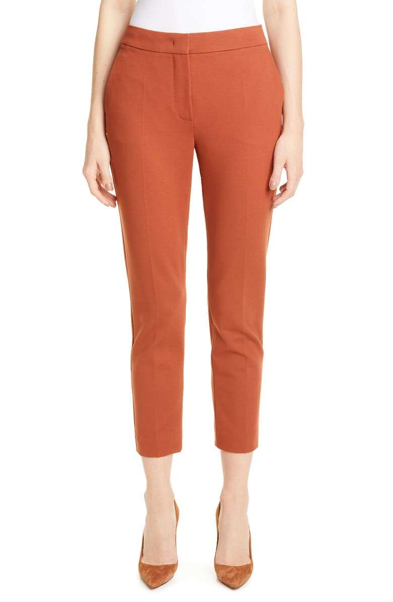 MAX MARA Pegno Slim Knit Crop Pants, Main, color, COPPER