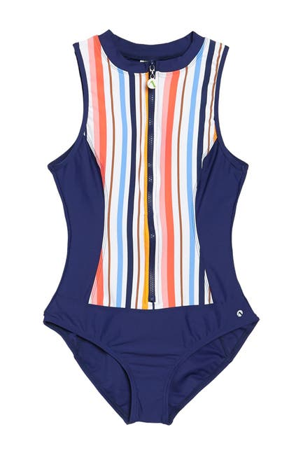 Image of NEXT Sunset Zip One-Piece Swimsuit