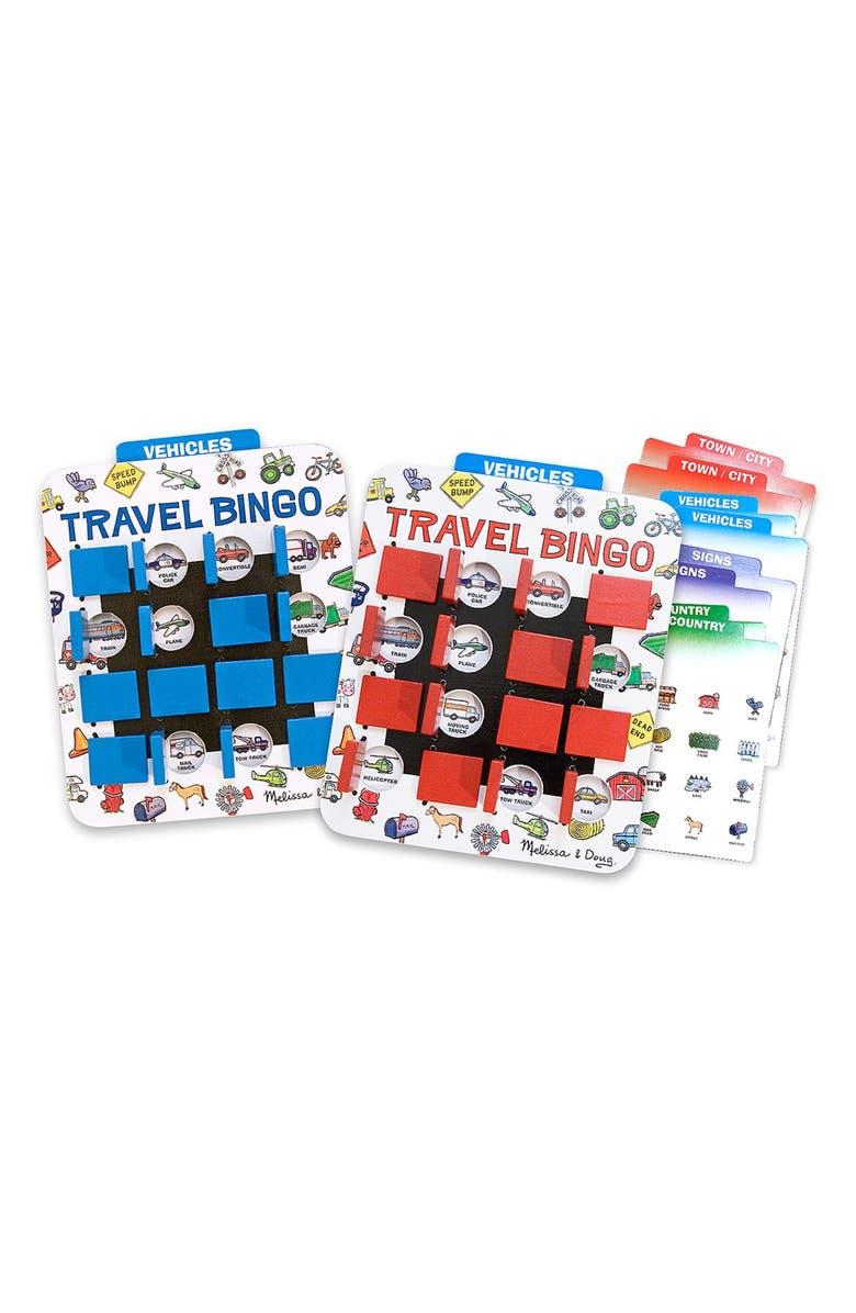 MELISSA & DOUG 'Flip to Win' Travel Bingo Game Set, Main, color, 960