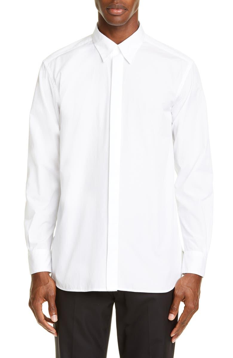 BARENA VENEZIA Slim Fit Button-Up Shirt, Main, color, BIANCO