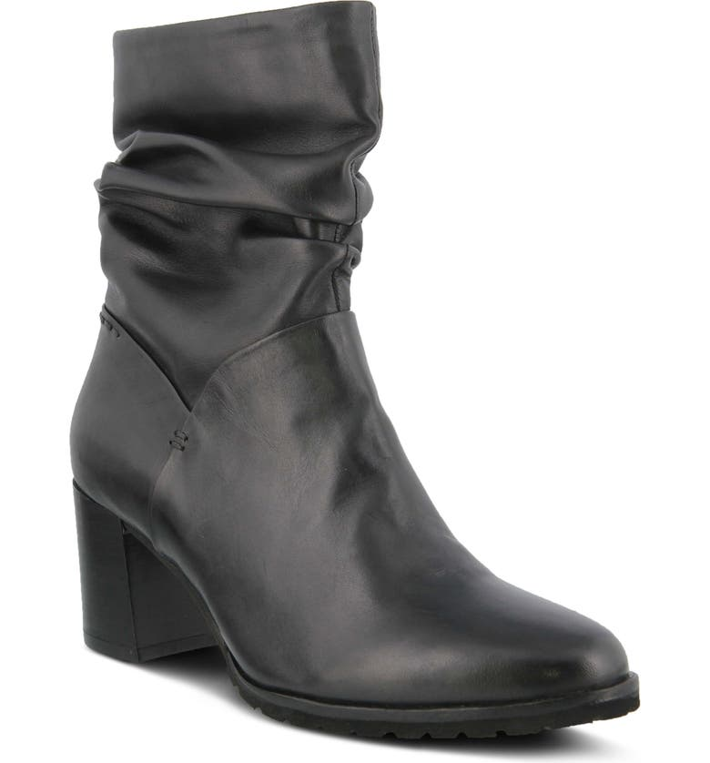 SPRING STEP Bette Bootie, Main, color, BLACK LEATHER
