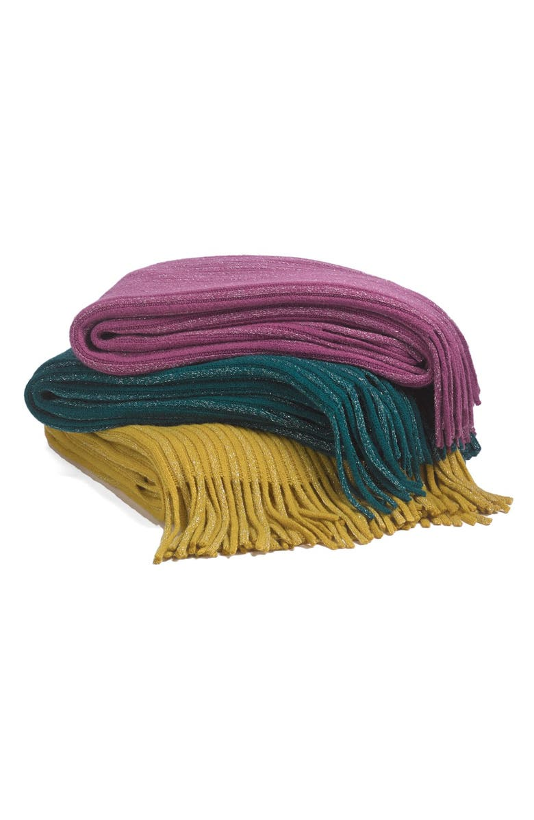 NORDSTROM AT HOME Sparkly Knit Throw, Main, color, 340