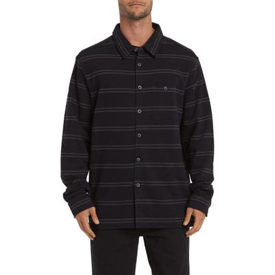 Billabong Swindler Button-Up Pique Shirt, Grey