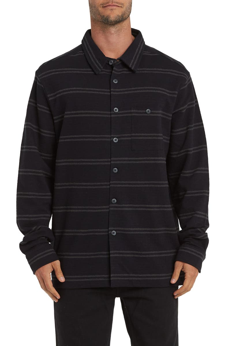 BILLABONG Swindler Button-Up Piqué Shirt, Main, color, 020