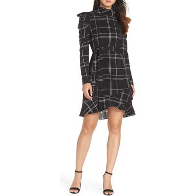 Julia Jordan Long Sleeve Crepe Dress, Black