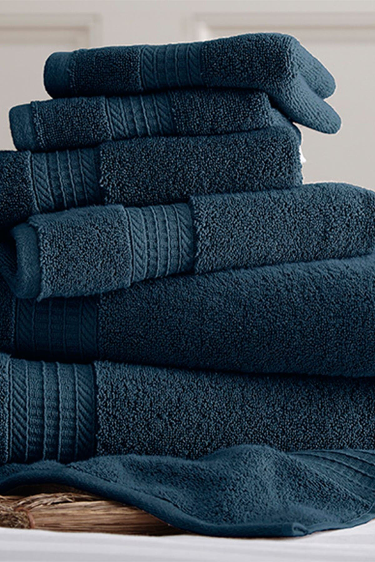 Image of Modern Threads 700 GSM Luxury Spa Collection 6-Piece Towel Set - Denim