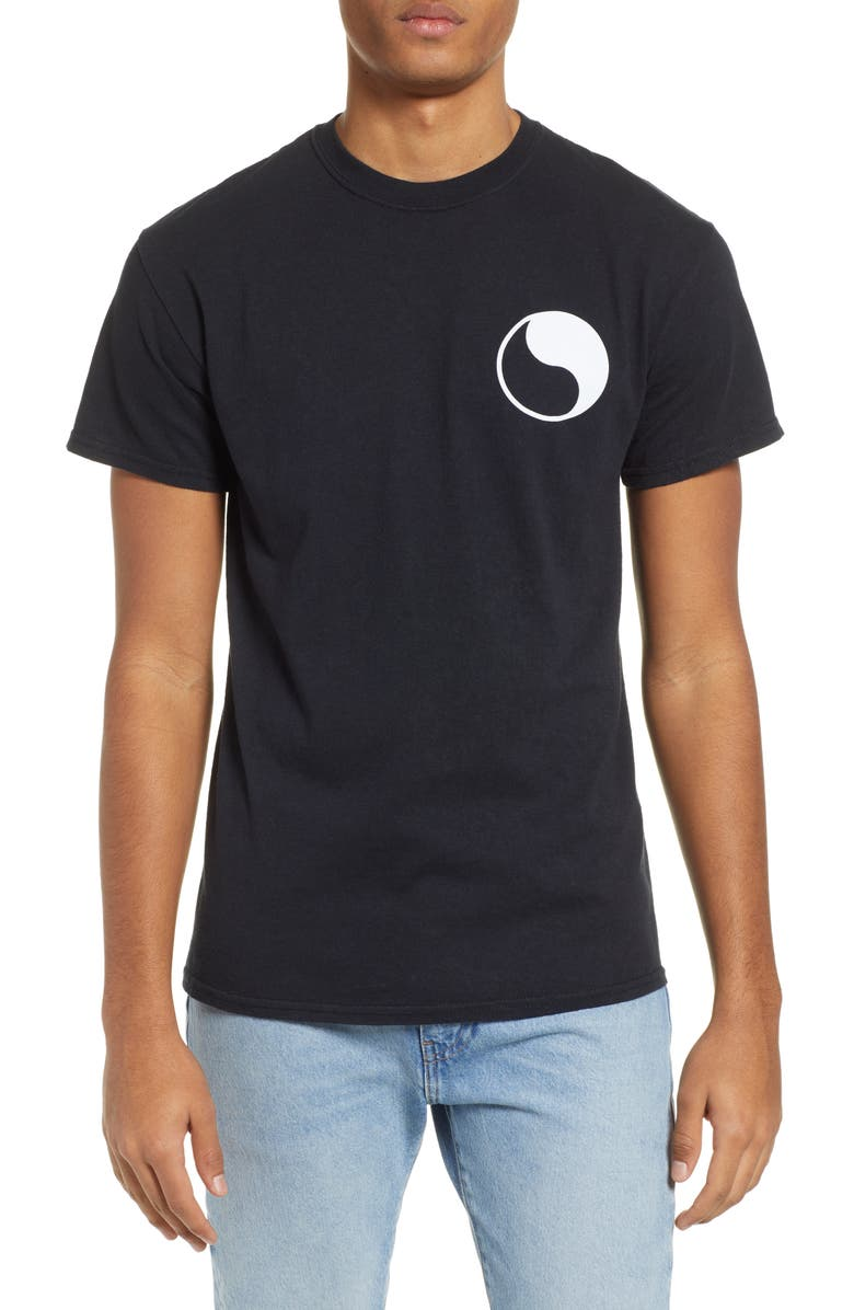 FREE & EASY Yin Yang Logo T-Shirt, Main, color, 001