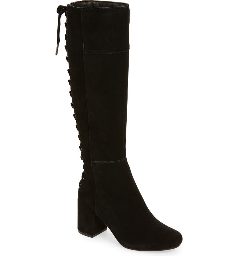 VERY VOLATILE Wynter Lace Up Knee High Boot, Main, color, 001
