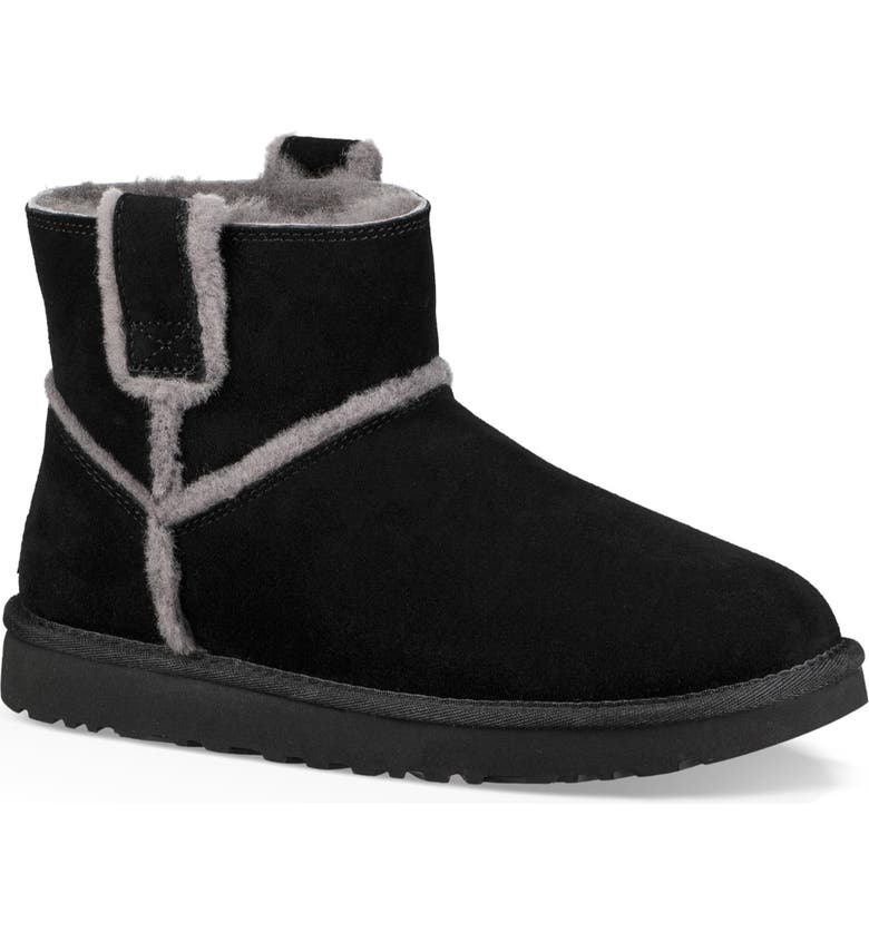 UGG<SUP>®</SUP> Mini Classic Genuine Shearling Boot, Main, color, 001