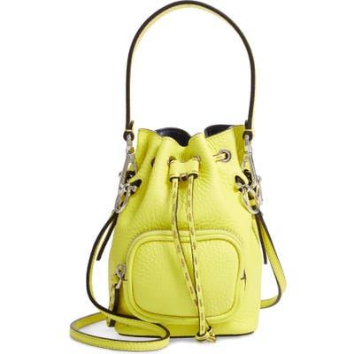 Fendi Mini Mon Tresor Leather Bucket Bag - Yellow