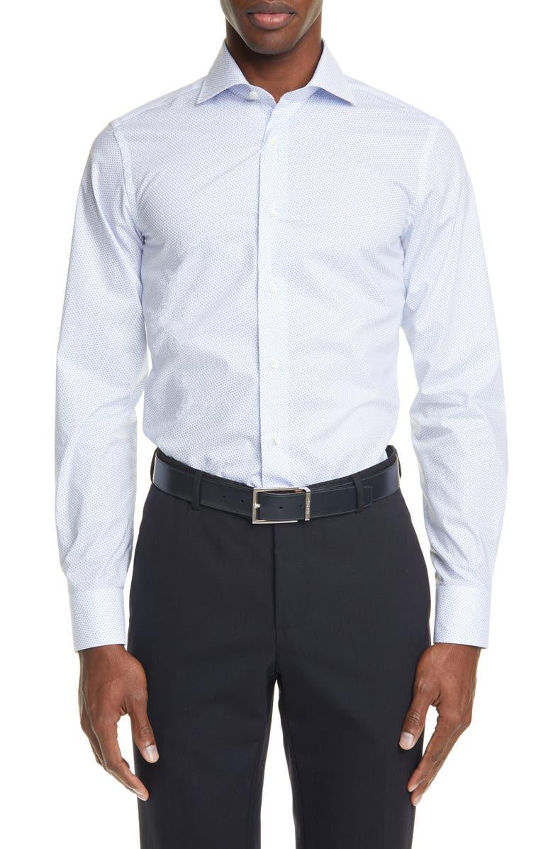 CANALI Regular Fit Dress Shirt, Main, color, BLUE