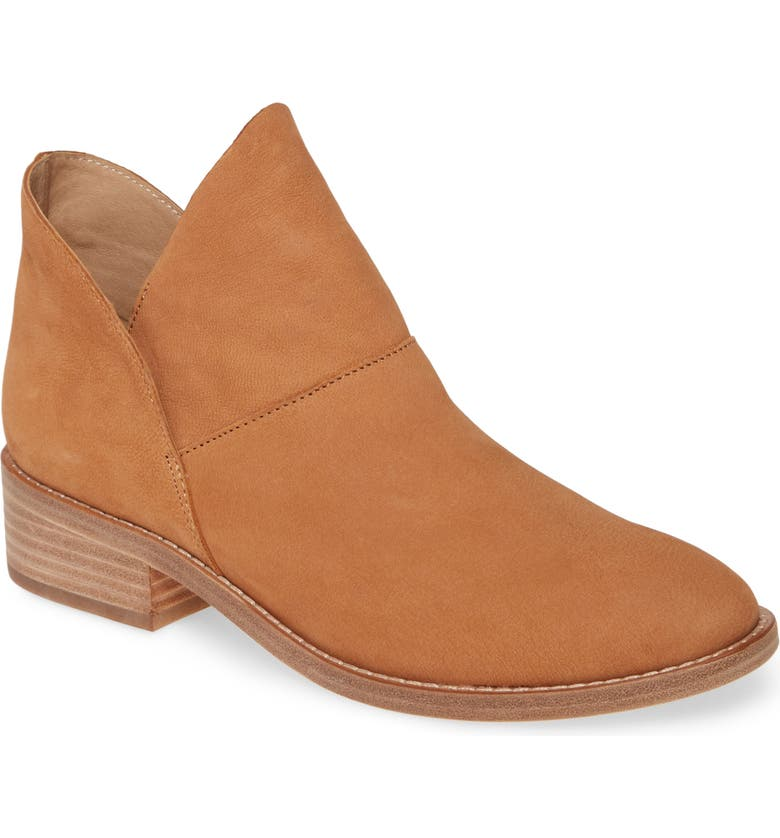 EILEEN FISHER 'Leaf' Bootie (Women), Main, color, COGNAC NUBUCK LEATHER