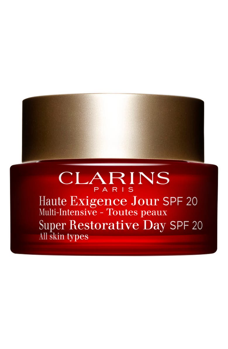 CLARINS Super Restorative Day Illuminating Lifting Replenishing Cream SPF 20, Main, color, NO COLOR